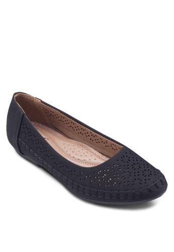 雕花esprit官網編織平底鞋, 女鞋, 鞋