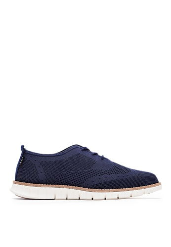 Life8 blue Casual Brogue Shoes With Gum Sole-Blue-09707 93316SH31D77B7GS_1