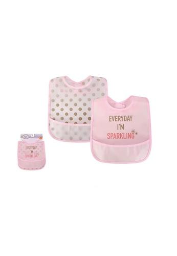 Little Kooma pink Luvable Friends Peva Waterproof Bibs 2 Pcs Pack 01091 Sparkling CFCC8KCDB5F57BGS_1