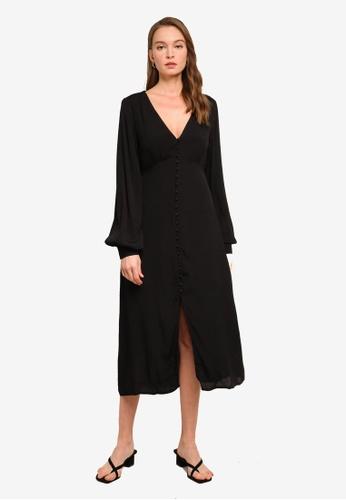 Sável black Enza Midi Dress EF230AAC61870BGS_1