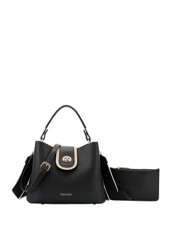 Swiss Polo black 2 in 1 Top-Handle Sling Bag 9A7BFAC22164A3GS_1