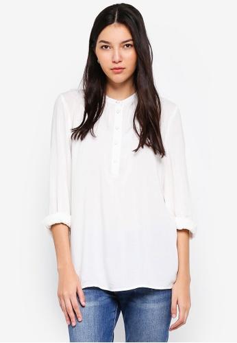 JACQUELINE DE YONG black Fanny Placket Shirt AE196AAC8CBDD2GS_1