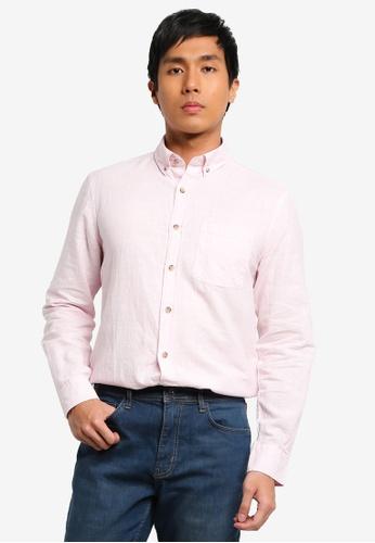 LC Waikiki pink Regular Fit Long Sleeves Linen Blend Shirt A2B13AA6567768GS_1