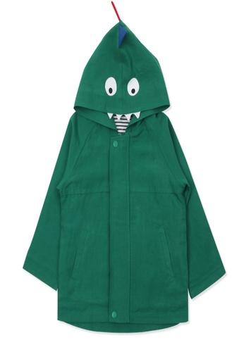Organic mom green Organic Cotton Tony Dinosaur Thin Coat EFA5AKA2E8ED94GS_1