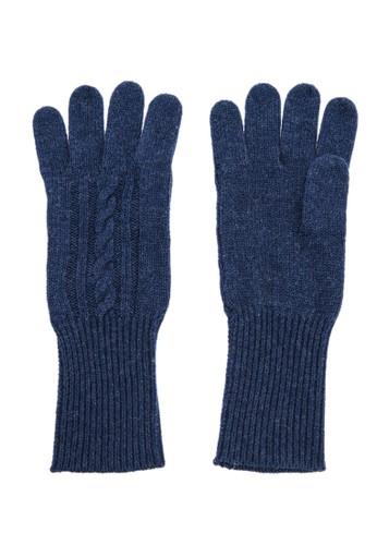 坑條紐esprit台灣繩保暖手套 - 深藍, 飾品配件, 手套