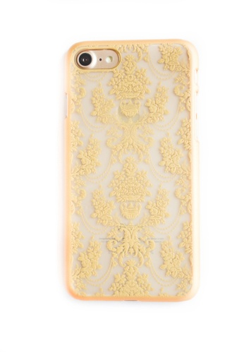 Fancy Cellphone Cases brown Royal Damask Case for iPhone 7 FA644AC86CIJPH_1