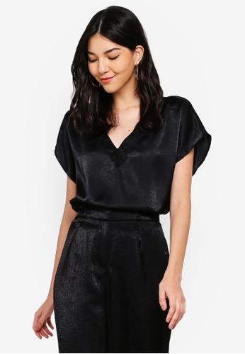 JACQUELINE DE YONG black Fun Short Sleeve Top B5C1AAAA4571C4GS_1