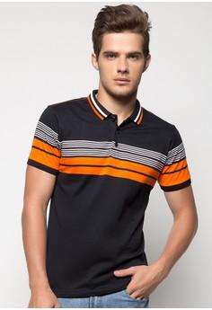 Engineered Stripes Polo Tee