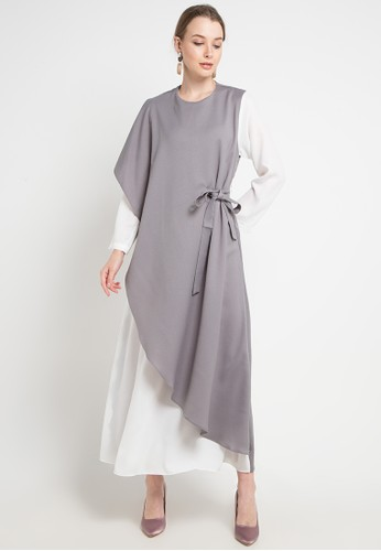 Covering Story multi and grey Xarinia Dress - D 72A6CAA506683BGS_1