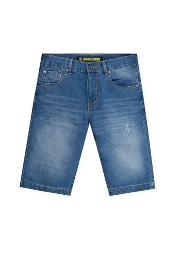 SHARKS blue Casual Short Jeans 56CC2KAA638EE4GS_1