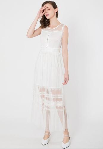BEBEBUTTERFLY white Bebebutterfly Sleeveless Lace Long Dress  A1AA4AA4F20301GS 1 c5ebeb07c