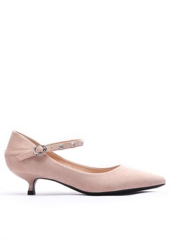 Twenty Eight Shoes 閃石釘絨料細跟高踭鞋295-13 71068SH23E77C9GS_1