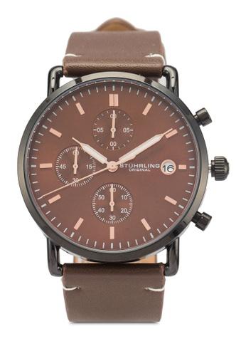 Stuhrling Original brown Monaco 3903 Watch 25B3BAC4F04D3AGS_1