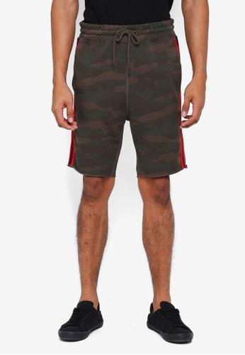 Jack & Jones green Tape Sweat Shorts DAA44AA872D1F3GS_1