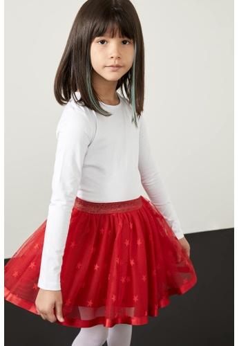DeFacto white Long Sleeve Round Neck Basic T-Shirt 05AAAKA1E58855GS_1