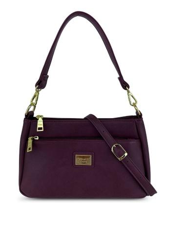 Mel&Co red Faux Leather Shoulder Sling Bag 36E1FAC600A306GS_1