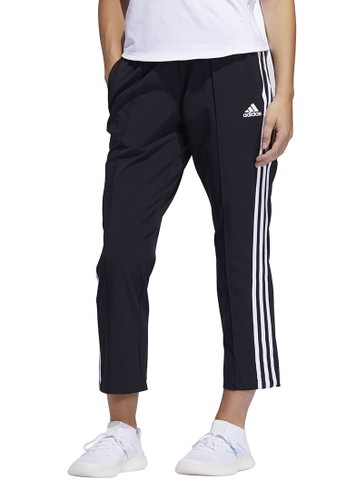 ADIDAS black adidas 3 stripe woven 7/8 pants AC962AA8F3E9B3GS_1
