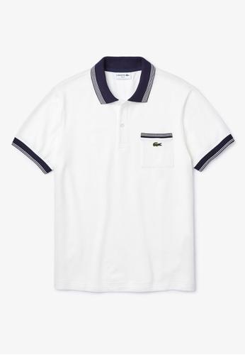 Lacoste blue Lacoste Men's Lacoste Stretch Mini Cotton Piqué Regular Fit Polo 3C474AA58A27BCGS_1