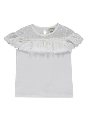 LC Waikiki white Girl's Scalloped Detail Cotton Top BDA80KA8EB21BEGS_1