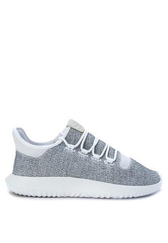 Adidas grey and white adidas originals tubular shadow AD678SH0KGGPPH_1