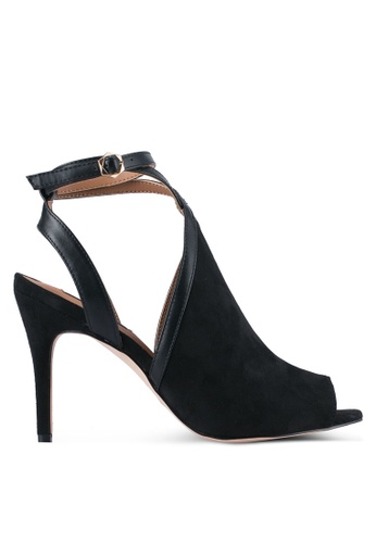 ZALORA black Strappy Peep-Toe Heel 2A931ZZDD5233BGS_1
