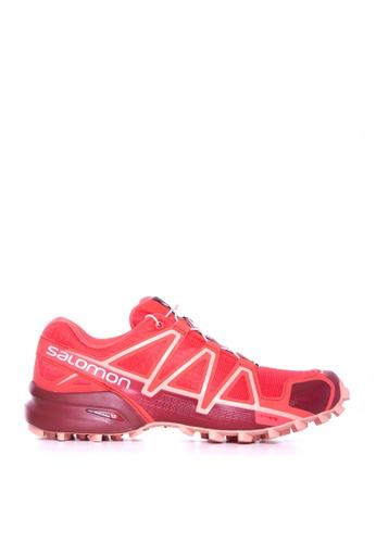 Salomon red Salomon Speedcross 4 Women Hbs/Red Dalhia/Peac B789ASHA7B5057GS_1