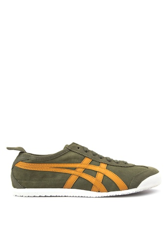 Onitsuka Tiger brown and green Mexico 66 Sneakers ON625SH47WVWPH_1