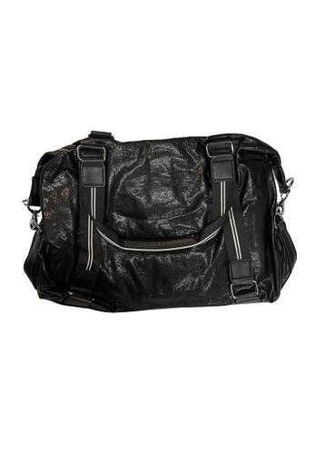 Lara black Simple Design Leather Men Briefcase and Laptop Bag - Black 627B7AC3D0D46DGS_1