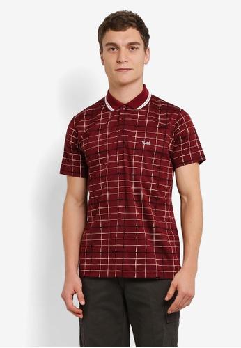 BGM POLO red Printed Polo Shirt BG646AA0S0L0MY_1