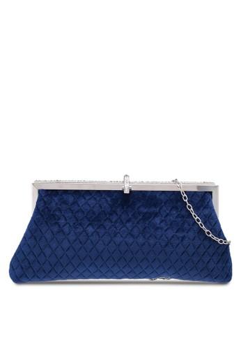 Papillon Clutch blue Velvet Mesh Clutch CC819AC6472221GS_1