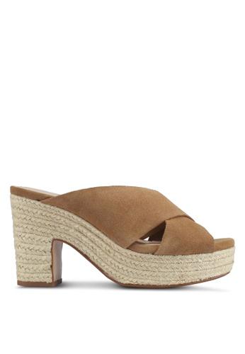 Mango brown Esparto Leather Sandals 15EFESH387837FGS_1