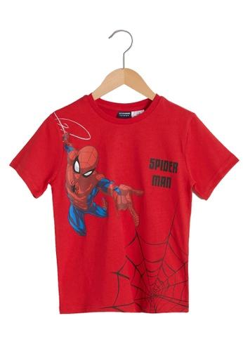 LC Waikiki red Boy?s Spiderman Printed Cotton T-Shirt 35CA7KA44F8FC9GS_1