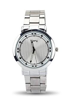 NARY 6052 Stainless Band Quartz Wristwatch
