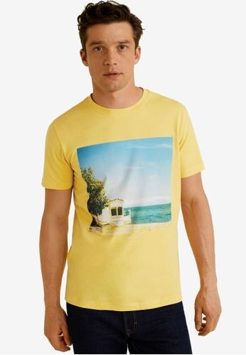 Mango Man 黃色 Photo Print T-Shirt 2FC4DAAC6CCFCFGS_1