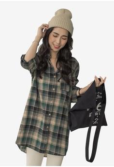 26c6164f291 Tokichoi green Long Checked Shirt BD75BAA127CD75GS 1