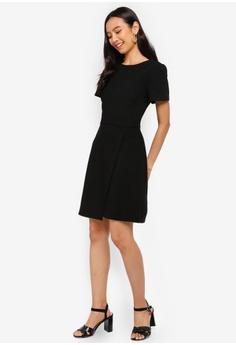 08a6403413d WAREHOUSE Wrap Front Crepe Dress S  119.00. Sizes 6 8 10 12 16