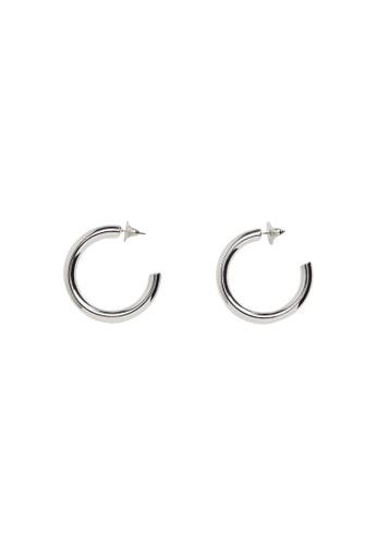 Mango silver Hoop Earrings B9678ACC27BC05GS_1