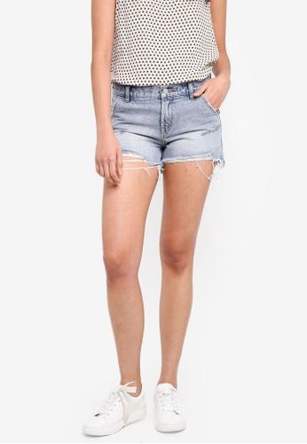 ESPRIT blue Denim Shorts 17B0CAA69EBE2FGS_1