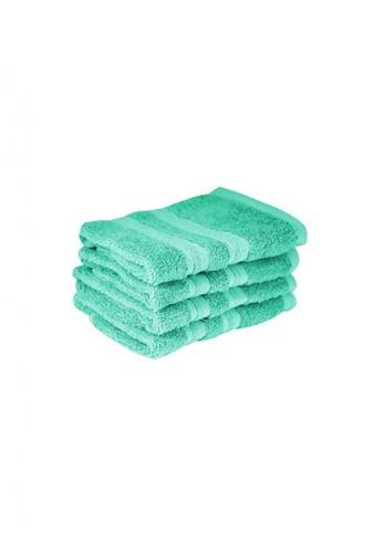 Primeo green Premium Aqua Face Towel 520gsm Soft High Absorbent Set of 4 D2ADEHLEE73CB6GS_1