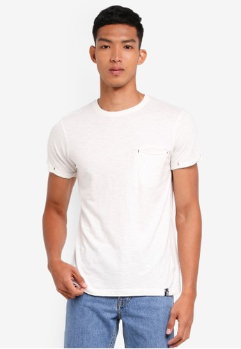 Indicode Jeans white Brantford Garment Dyed Pocket T-Shirt A8A6AAA3FC81D0GS_1