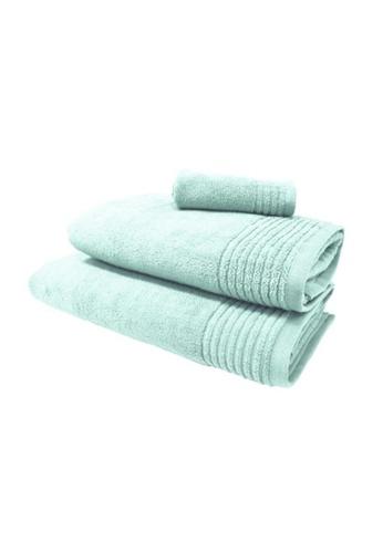 HOOGA blue Hooga Oversize Towel Chloe Misty Blue (Bundle of 2) 9810EHL2A25E43GS_1