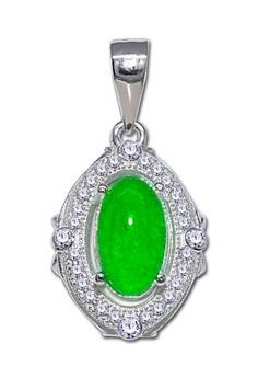 Oblong Jade Pendant