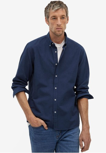 Mango Man blue Regular Fit Oxford Cotton Shirt AD47AAA05890EFGS_1