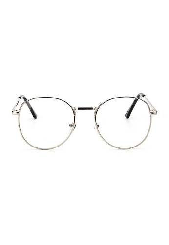 Elitrend silver Retro Metal Glasses with Silver Frame 56146GL5D07505GS_1