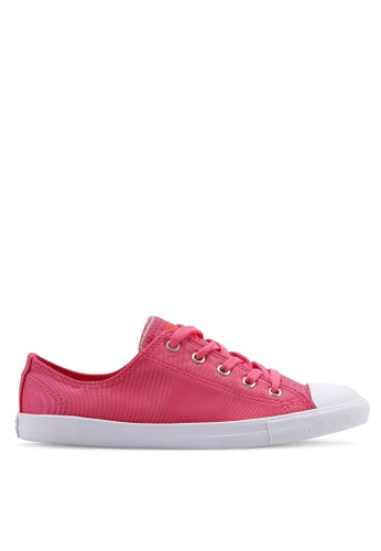 Converse pink Chuck Taylor All Star Dainty Summer Palms Ox Sneakers 3203FSHA23FB9EGS_1