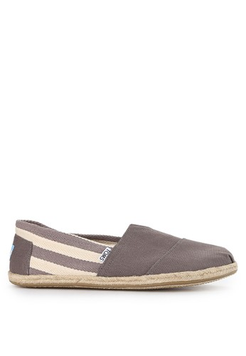 TOMS multi and grey Mf Dk Grey Stripe University Mn Clsc Alp TO159SH0VUYNID_1