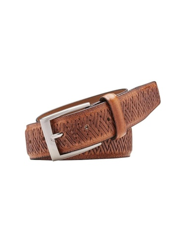 Buckle brown Cabana Leather Belt 0541EACD1EF136GS_1