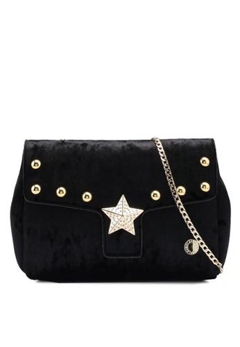 La Fille Des Fleurs black Luna Velvet Crossbody Bag AC625AC4B5D69DGS_1