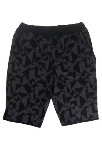 幾何印花鬆緊短褲, 服飾,esprit官網 短褲