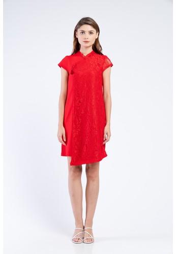 MILLE red Mulan Dress 0C171AAE577862GS_1